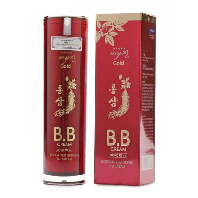 Kem nền BB Cream Hồng Sâm Đỏ My Gold SPF45 PA++ 40ml