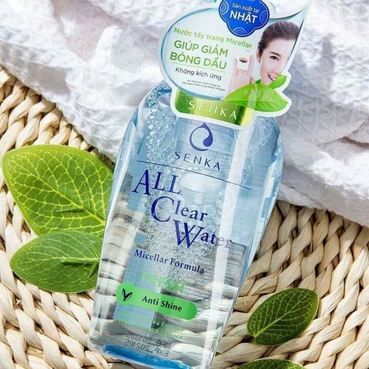 Nước Tẩy Trang SENKA Tươi Mát Da All Clear Water Fresh Anti Shine 230ml