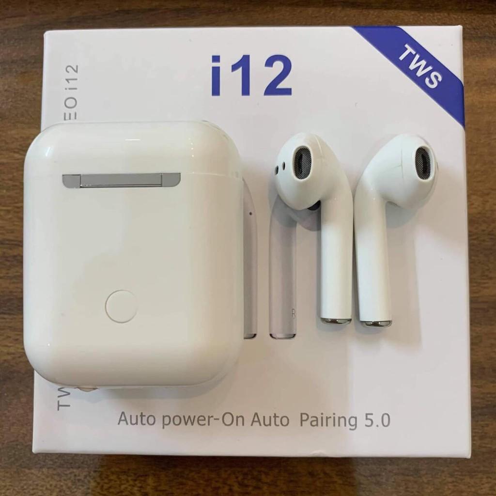 Tai Nghe Bluetooth I12 Thế Hệ Mới Với Chức Năng Khử Ồn Kháng Nước Siêu Bền  Dùng Được Cho Cả Iphone Và Androi