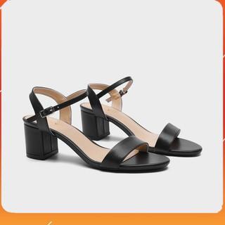 PAMELA - Giày Sandal Cao Gót Mũi Vuông Phối Quai Dây Mảnh Cao 5p Hai Màu Đen và Trắng - S26