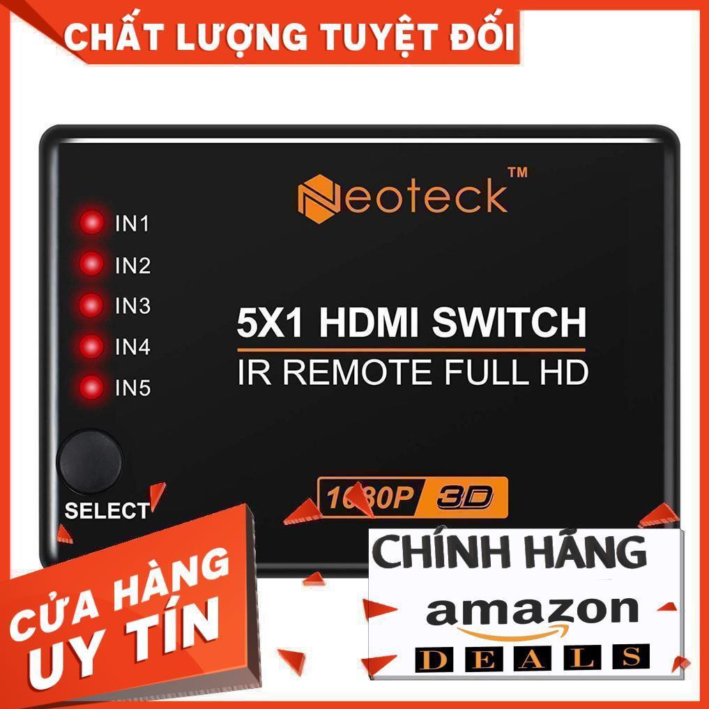 Bộ chuyển đổi HDMI Neoteck NTK035-V 5 Cổng 1080P với Điều khiển từ xa IR - 14865920 , 2670134977 , 322_2670134977 , 448600 , Bo-chuyen-doi-HDMI-Neoteck-NTK035-V-5-Cong-1080P-voi-Dieu-khien-tu-xa-IR-322_2670134977 , shopee.vn , Bộ chuyển đổi HDMI Neoteck NTK035-V 5 Cổng 1080P với Điều khiển từ xa IR