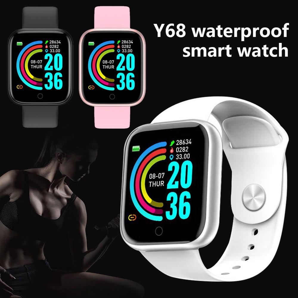 Đồng Hồ Thông Minh Y68 / D20 / Gm20 Chống Nước / Bluetooth / Usb / Trái Tim