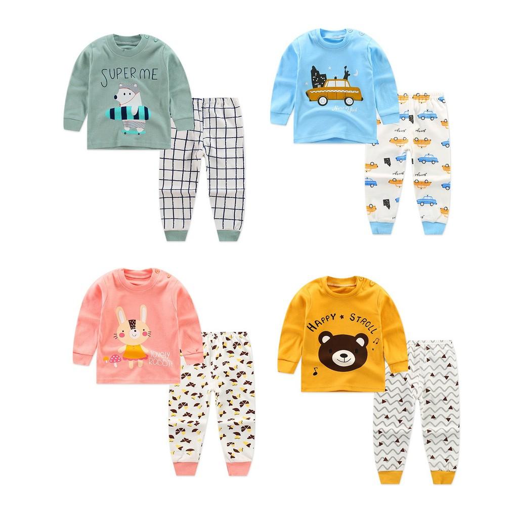 Bộ cotton xuất Hàn cho bé trai bé gái