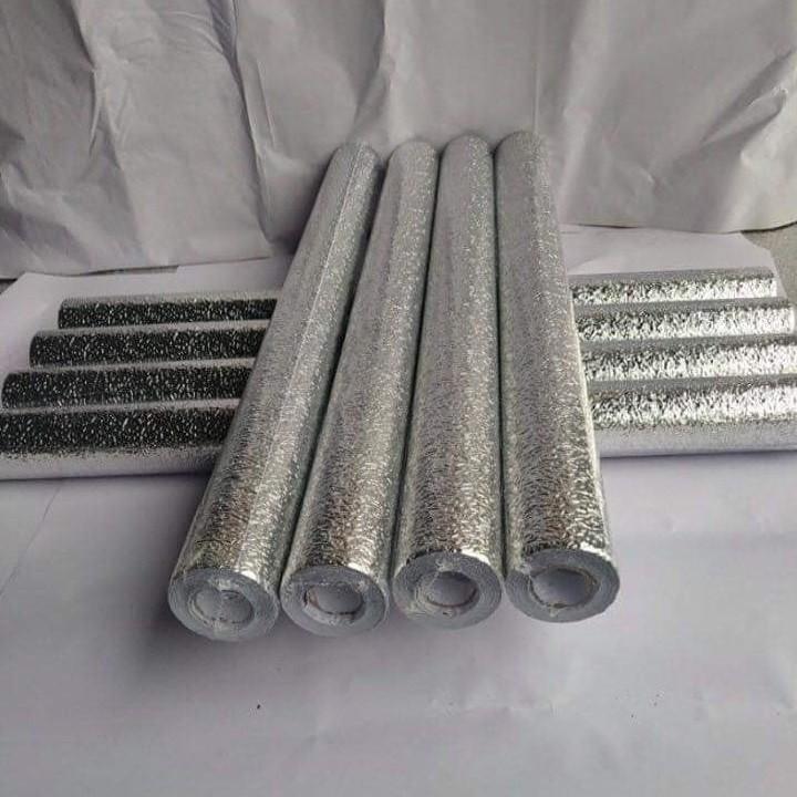 Cuộn giấy bạc dán bếp cách nhiệt, miếng decal dán tường nhà bếp chống thấm bền đẹp ( 3 mét khổ 60cm )