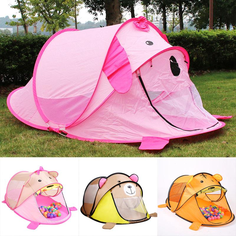 Portable Cartoon Children Toy Tents Play House Outdoors Infant Travel Tulle Tent