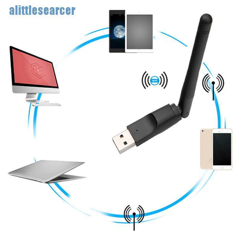 Usb 2.0 Wifi Không Dây Mt7601 150mbps Có Ăng Ten Xoay Được