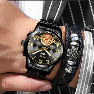 Đồng hồ nam chính hãng FNGEEN, Đồng hồ nam chính hãng đẹp dây thép cao cấp không gỉ 4001 - Aka Mart