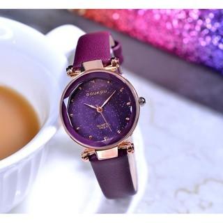 [NEW ] Đồng hồ nữ Doukou 3422 hàng chính hãng dây da mặt sao trời thumbnail