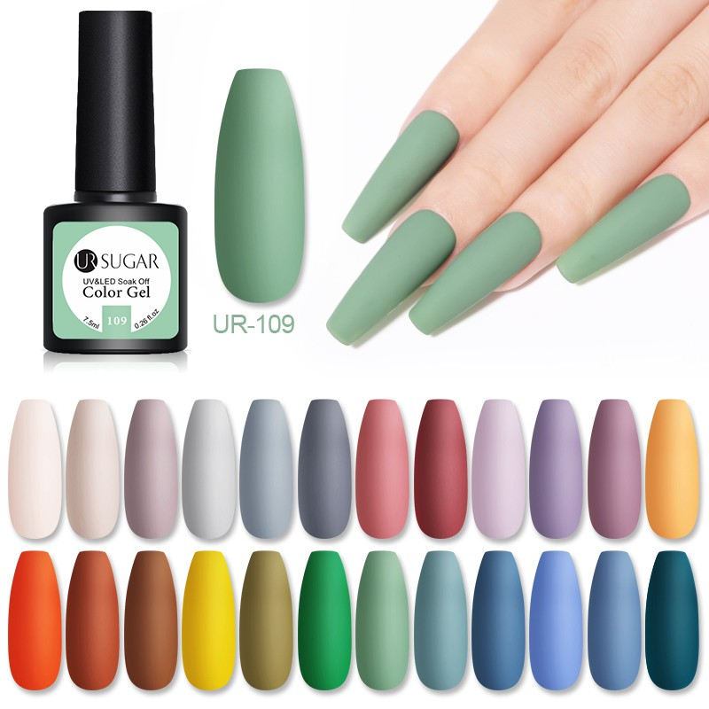 UR SUGAR Gel sơn móng tay bền màu mã 41-60 chất lượng cao 7.5ml