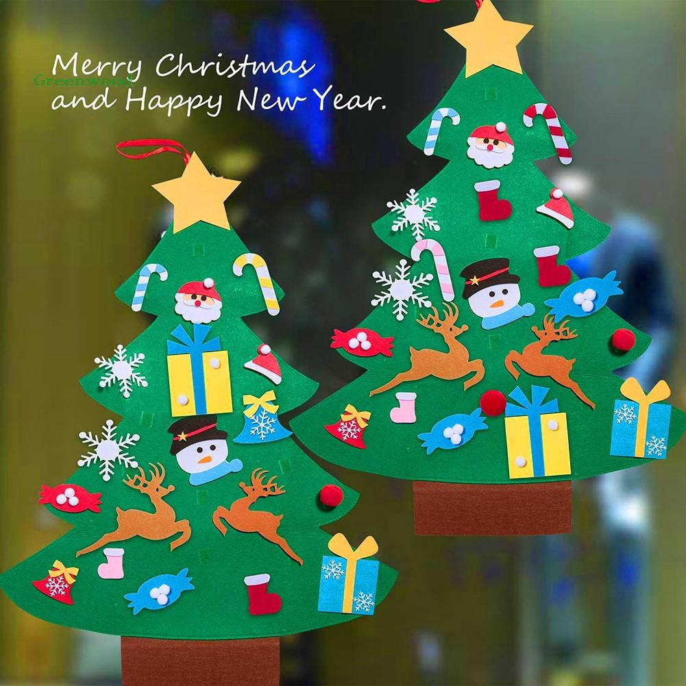 Phụ kiện treo trang trí cây thông Giáng Sinh hình ông già Noel / tuần lộc đáng yêu