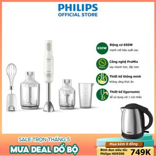 Máy xay cầm tay Promix Philips HR2537 650W full phụ kiện - Hàng chính hãng thumbnail