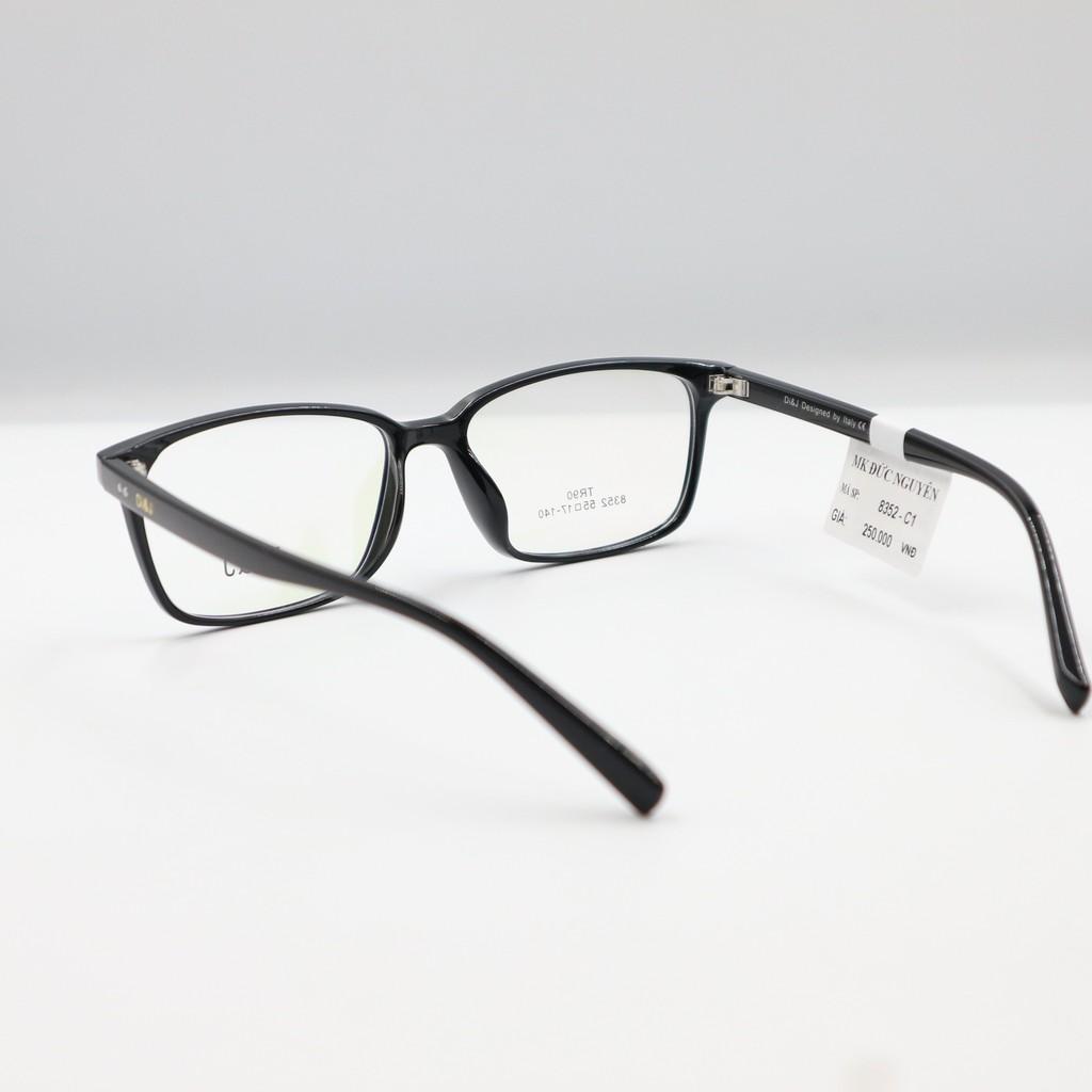 Gọng kính cận thời trang Di&J 8352 Tặng kèm tròng kính cận thi, viễn thị hoặc loạn thị