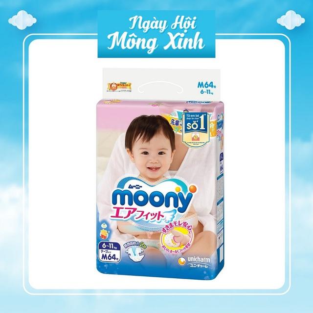 [An Giang] Bỉm tã Moony dán/ quần S84/M64/M58/L54/L44