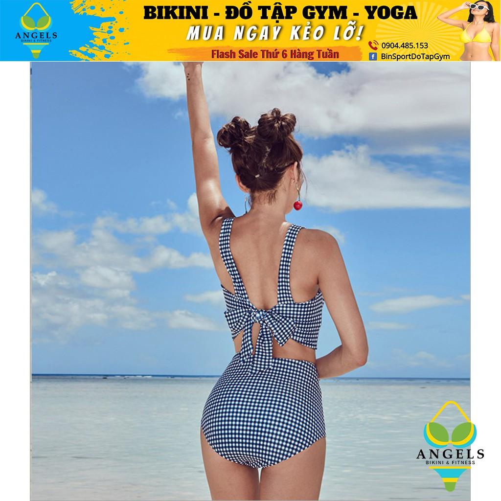 Bikini,Bộ Đồ Bơi 2 Mảnh Caro, Hàng Nhập,,BHN007