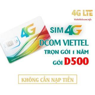 Sim Viettel vào mạng 1 năm D500