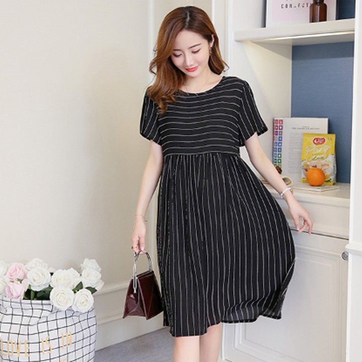 Vay Bầu Xinh đầm Bầu Cong Sở Dễ Thương Co đủ Size Shopee Việt Nam