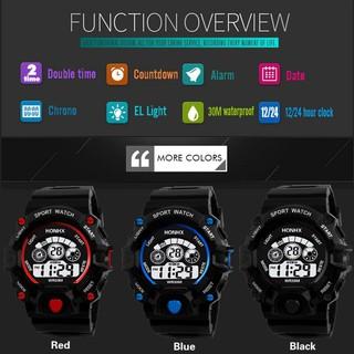 Đồng hồ đeo tay kỹ thuật số chống thấm nước phong cách thể thao
