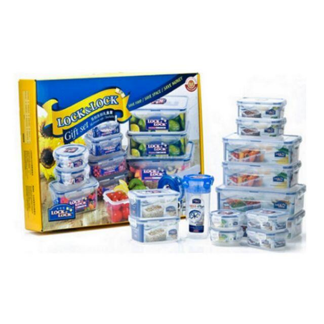 Bộ hộp bảo quản thực phẩm Lock&Lock 13 món - HPT824C13