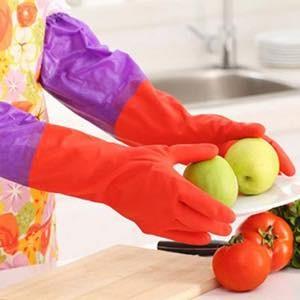 sỉ 10 đôi găng tay rửa bát lót nỉ 210k