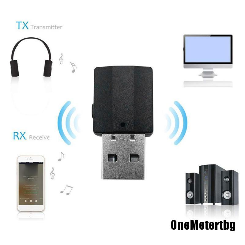 Usb Phát Tín Hiệu Bluetooth 5.0 2 Trong 1 Giắc Cắm 3.5mm