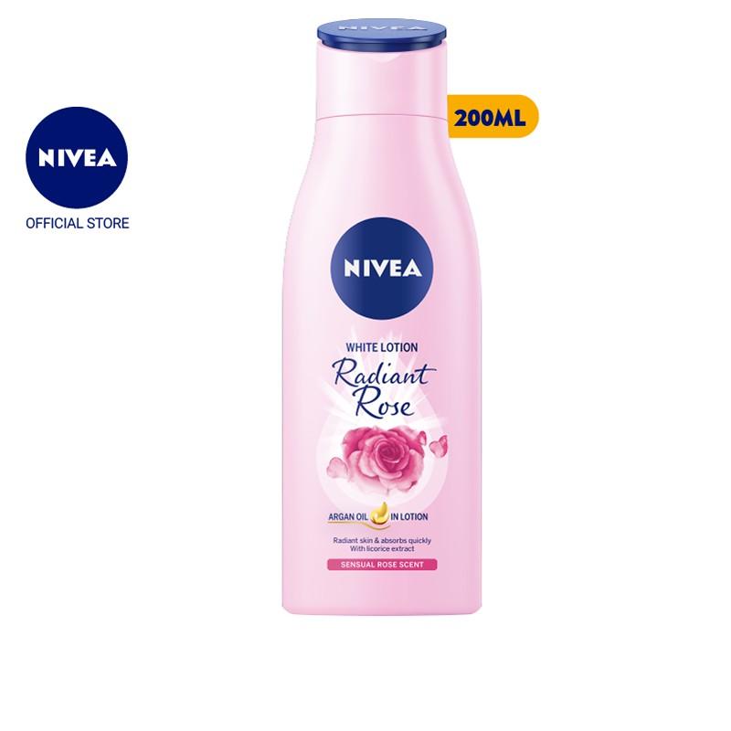 Sữa dưỡng thể dưỡng trắng Nivea Radiant Rose (200ml) – 85706