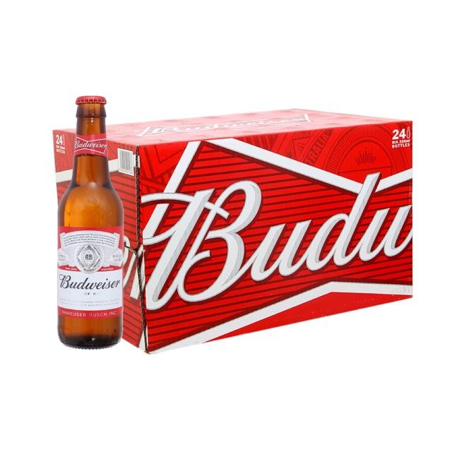 Bia Budweiser Chai 24 x 330ml