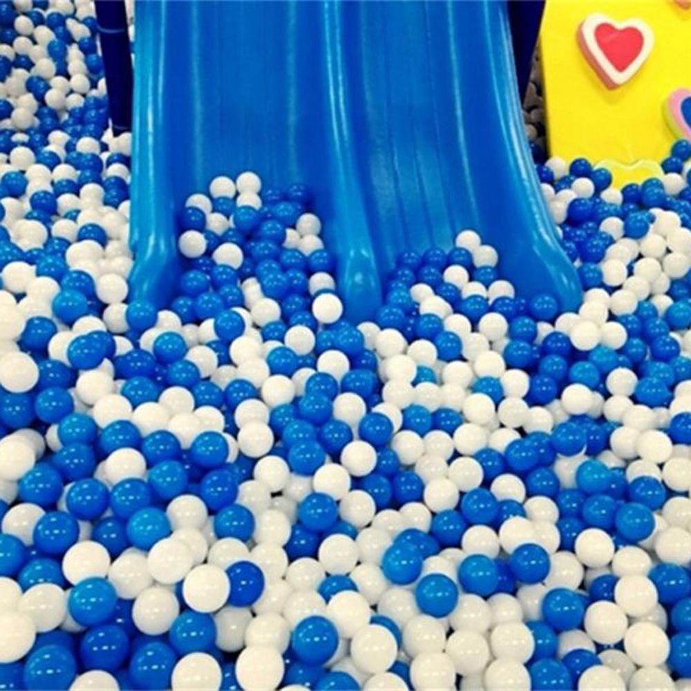 50pcs/Set Blue Ball Soft Plastic Ocean Ball Kid Swim Pit Toy