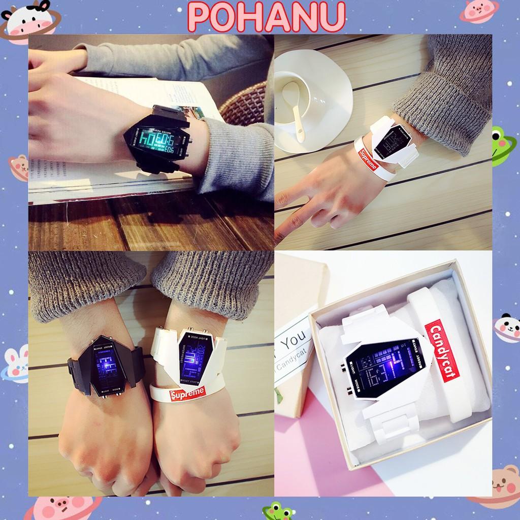 Đồng hồ Pohanu nam đèn Led nhiều màu thời trang phong cách thể thao DH80
