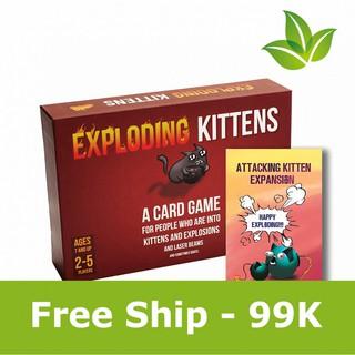 [Free Ship] Combo mèo nổ Exploding Kittens tấn công A(ngẫu nhiên)