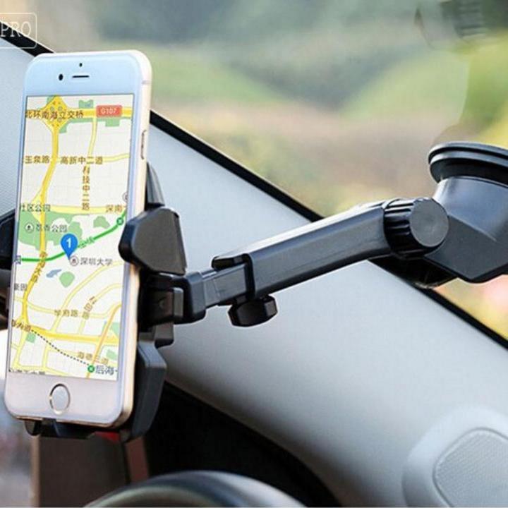 Giá Đỡ Kẹp Điện Thoại Cao Cấp Trên Ô Tô - Giá đỡ điện thoại xoay 360 độ