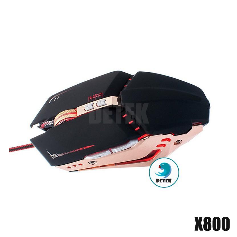 Chuột game thủ có dây Detek X800 (Đen Gold)