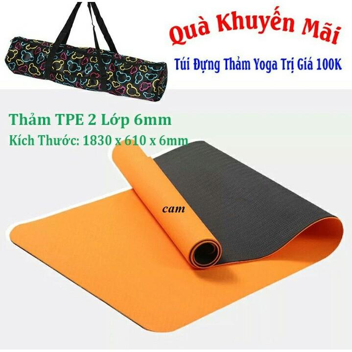 Thảm yoga 6mm 2 lớp PTE Ecofriendly tặng túi xịn (khách chọn màu) - 10082332 , 1130172819 , 322_1130172819 , 209000 , Tham-yoga-6mm-2-lop-PTE-Ecofriendly-tang-tui-xin-khach-chon-mau-322_1130172819 , shopee.vn , Thảm yoga 6mm 2 lớp PTE Ecofriendly tặng túi xịn (khách chọn màu)