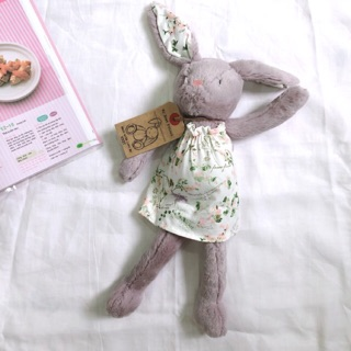 Quà tặng Thỏ bông xám đầm hoa Next hàng xuất xịn (đồ chơi thú bông gấu bông an toàn)