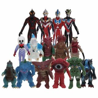 【Ready Stock】Ultra Action Figure Ultraman Ultra Monster Series Sofvi Soft Vinyl Action Figure Toys 11-15cm