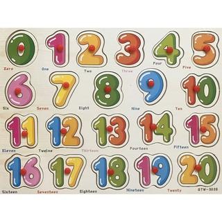 [HOT] Bảng ghép hình bằng gỗ bảng số đếm 0-20 cho bé yêu