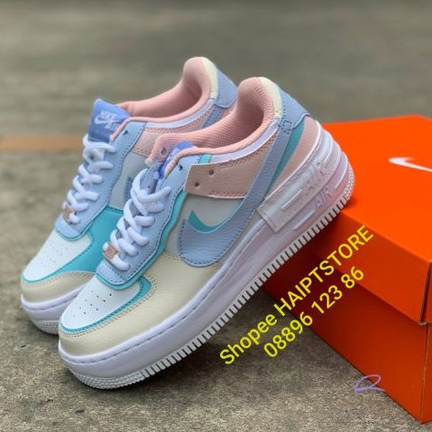 Giay Nike Air Force 1 Shadow Pastel Blue Purple Ci0919 106 Women Authentic Chinh Hang Fullbox Uy Tin Gia Thang 1 2021 Check out our custom nike air force 1 selection for the very best in unique or custom, handmade pieces from our shoes shops. 123mua