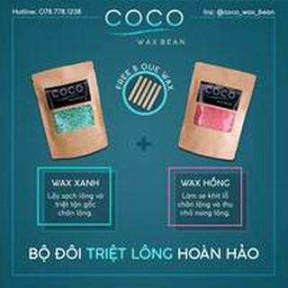 Sáp wax lông Coco, tẩy sạch lông lá, da sáng mịn (Xanh+Hồng)