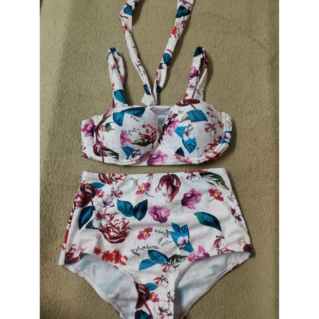 Bikini tay dài hàn quốc bikini 1 mảnh bikini 2 mảnh đồ bơi bikini cạp cao đi biển mùa hè