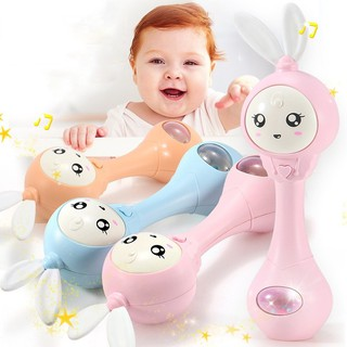 ✨KIDSCLOTHING✨3 Color Baby Hand Bells Toys Puzzle Music Light Shaking Rattles Sounds