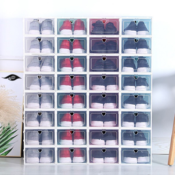 Hộp đựng giày nắp lật bằng nhựa dẻo nhiều màu (FSB05)