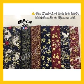 Vải Cotton Hoạ Tiết Nhật Bản 2 cho doll, Obitsu