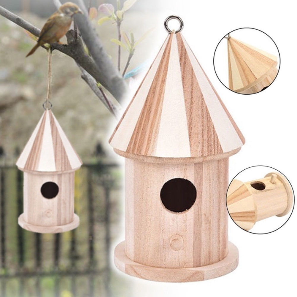Breeding Craft Decorative Durable Hanging Outdoor Wooden Bird House