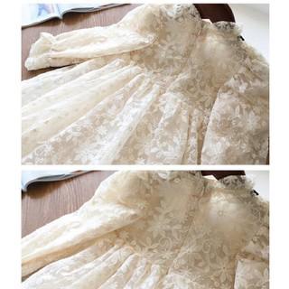 Váy ren công chúa cho bé gái