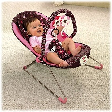 Ghế rung Fisher Price Mocha flower bouncer