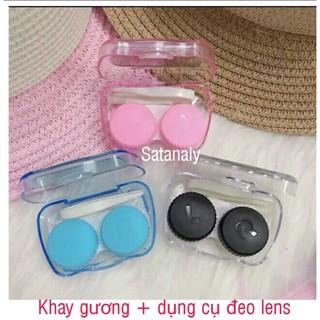 Khay gương + dụng cụ đeo Lens cực xinh, tiên lợi thumbnail