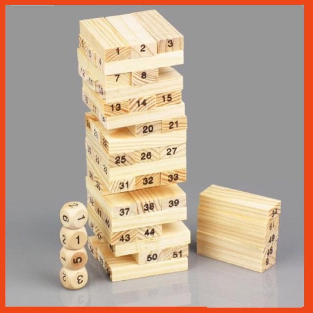 ➣ ĐỒ CHƠI Bộ trò chơi rút gỗ 54 thanh ☣