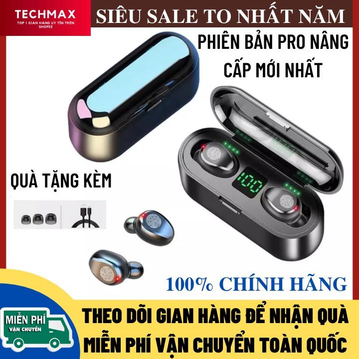 Tai nghe Bluetooth AMOI F9 Phiên Bản PRO Quốc Tế Nâng Cấp Pin Trâu 2000 maH, Nút Cảm Ứng