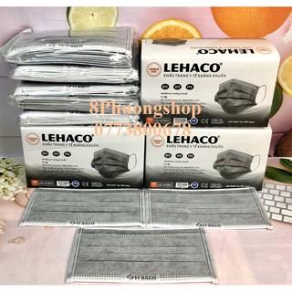 Khẩu trang Lehaco màu Xám 4 lớp Kháng Khuẩn 50 cái hộp - Khẩu Trang y tế Lehaco Khẳng Khuẩn thumbnail