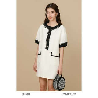 Đầm trắng đính dây thiết kế Elise thumbnail