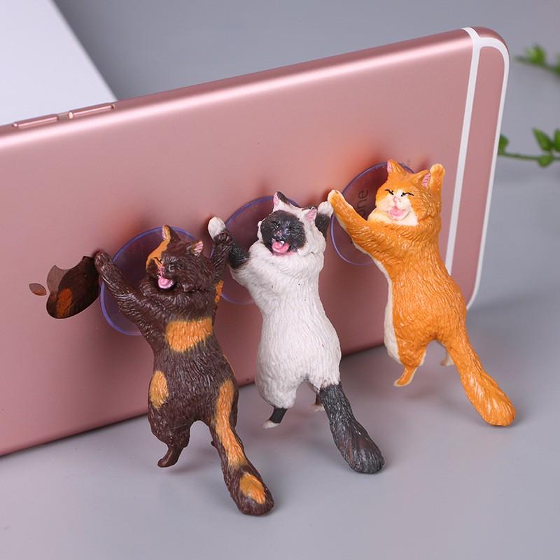 [ ĐƯỢC CHỌN MẪU ] Giá đỡ điện thoại hình mèo đáng yêu